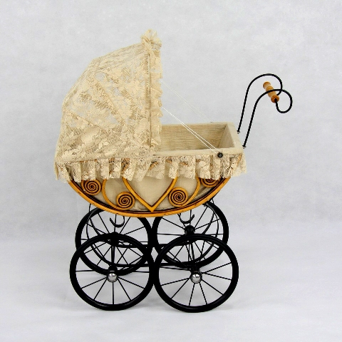 Eleanor Heirloom Doll Carriage Pram/ Play Buggy Stroller