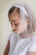 US Angels - Beaded Headband with Veil