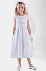 Us-Angels- c5-351- Cap Sleeve with Lace and Satin