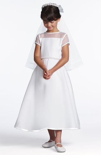Us Angels Communion Dress *The Sleeved Illusion-Style 214*