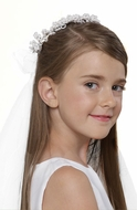 Us Angels Communion Pearl Wreath w/ Veil-Style V-76