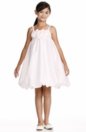 Us Angels Flower Girl *Empire Flower Bubble-Style 132* Pale Pink & Ivory
