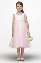Us Angels Flower Girl *Empire Tutu-Style 187* Ivory & Pink