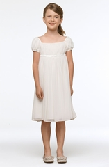 Us Angels Flower Girl *Renaissance-Style 133* -Blush Pink & Ivory