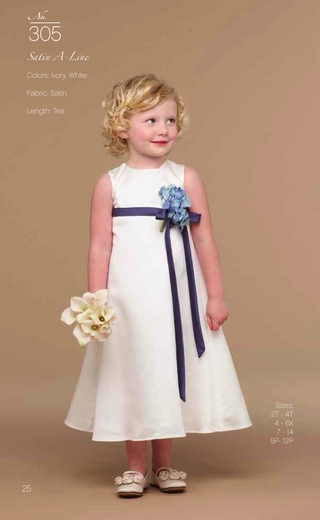 Us Angels Flower Girl *Satin A-Line-Style 305*(A Custom Event)
