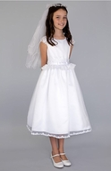 Us Angels Lace Peplum Organza Dress c5-362