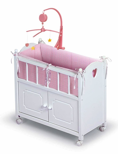 White Doll Crib -
