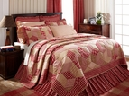 Breckenridge Red Plaid Quilt by VHC Brands