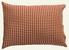 Burgundy and Cream Check Pillowcase (two)