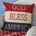 God Bless America Stenciled Pillow