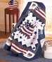 Great America Flag Quilted Throw