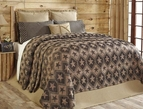 Jefferson Black & Tan Star Western Coverlet