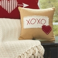 Kisses & Hugs Heart XOXO Pillow