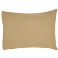 Natural Beige Soft Burlap Pillowcase ( 2)