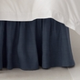 Solid Navy Blue Bedskirt Ruffle