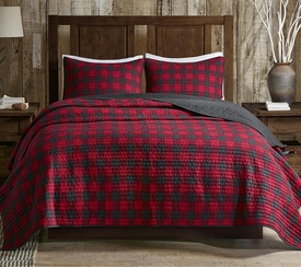 Red Buffalo Check Quilt Set