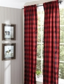 Red Buffalo Check Window Panel Curtains
