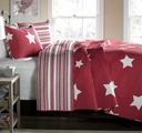 Country Star Quilt - Red