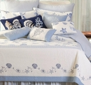 Treasures by the Sea Blue Seashell Quilt