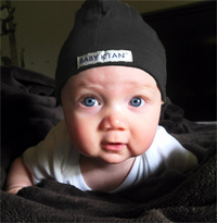Basic Black Baby Hat