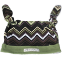 Zig Zag & Sage Double Knot Hat, 6-12 mos
