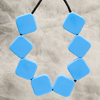 Blue Sugar Cube teether necklace