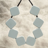 Grey Sugar Cube Necklace