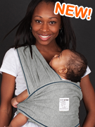 Heather Grey Baby Wrap - Size S