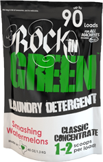 Rockin Green Laundry Detergent, Smashing Watermelons