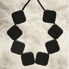 Black Sugar Cube Necklace