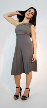 The Kicky Versatile Dress, Pewter