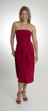 The Kicky Versatile Dress, Real Red