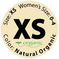 Gently Used Natural Organic, Size XS
