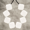 White Sugar Cube Necklace