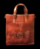 Skull Book Tote Copper