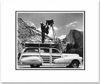 ANSEL ADAMS PHOTOGRAPHING IN YOSEMITE