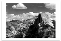 HALF DOME AND CLOUDS,  YOSEMITE   NATIONAL PARK, CA, c 1968