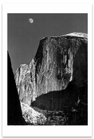 MOON AND HALF DOME, YOSEMITE NATIONAL PARK, CA, c 1960