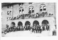 RESIDENTS OF ENCINA HALL, STANFORD MEN'S DORMITORY, c 1893