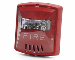 Click to enlarge: Wheelock HSR HN STR, RED, 2W, WALL, 12 / 24V, 8CD