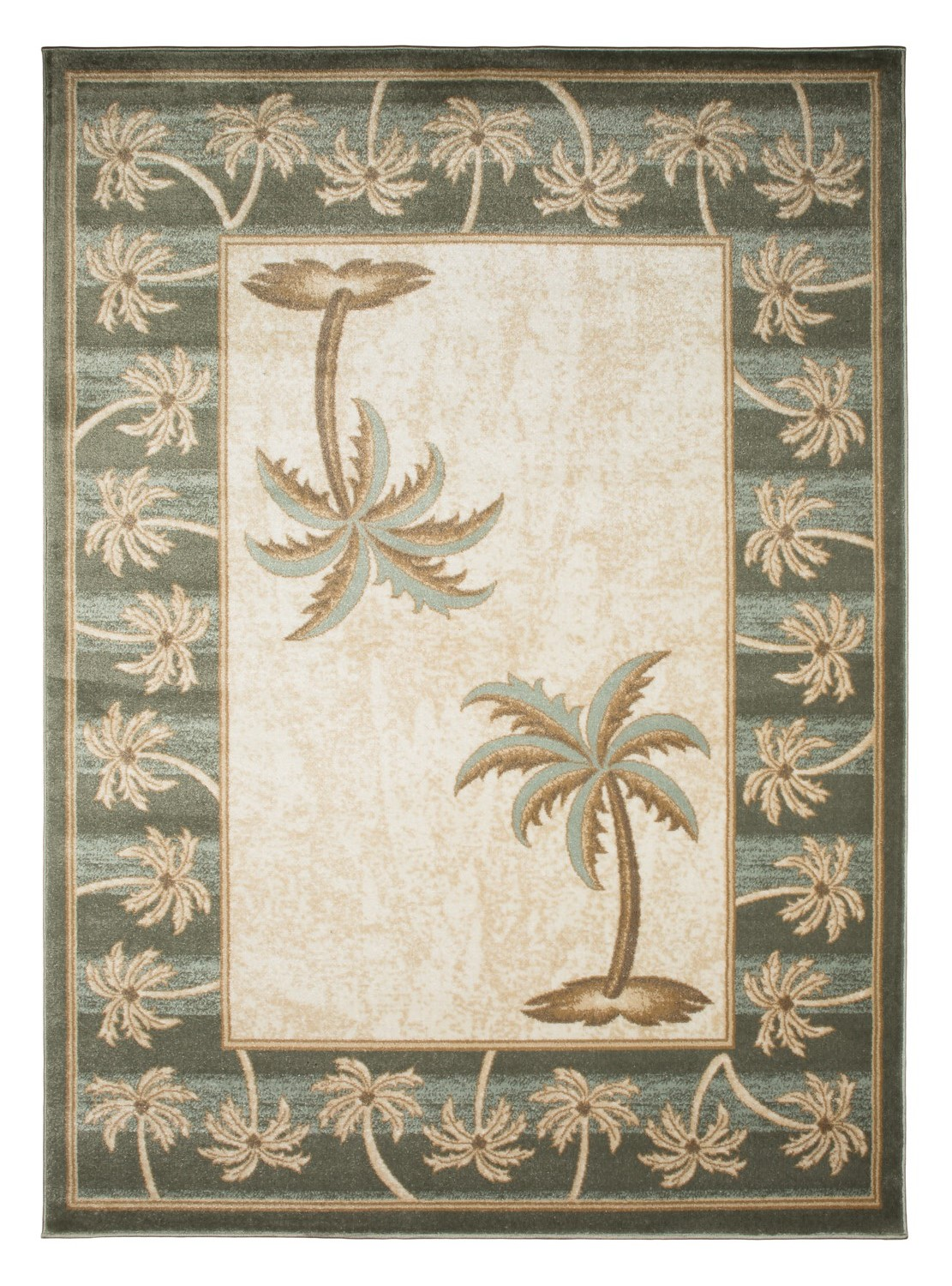 Biege Bone Bahamas Palm Tree Rug 2320 Bahamas Rugs