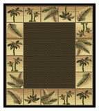 Black  Bahamas Palm Tree Rug 2319