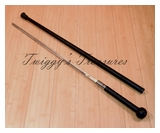 Black Traveler Wood Handle Sword Cane-BK-1880-K