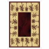 Bordeaux  Bahamas Palm Tree Rug 2321