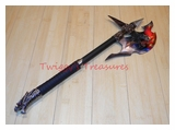 Fantasy Dragon Axe with Plaque KX6601-PS