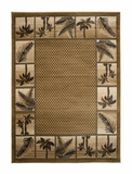 Gold Bahamas Palm Tree Rug 2319