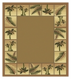 Mustard Bahamas Palm Tree Rug 2319