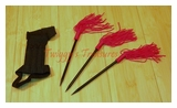 Red Tassel Spikes (3)-U9107-3-WJ