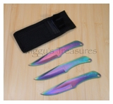 Throwing Knives Anodized 3pc RC005RB-MC