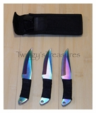 Throwing Knives Set of 3 Anodized RC005RBBMC